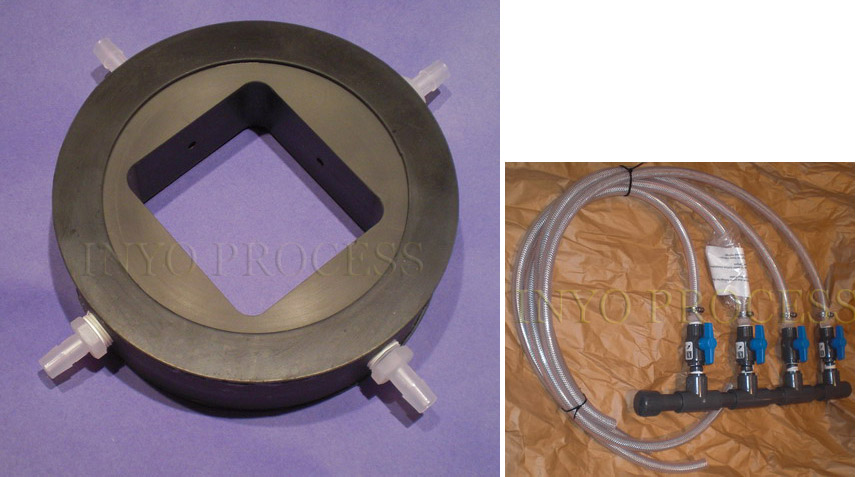 Sludge Wafer Injection Disk distributes polymer and provides some mixing to the sludge