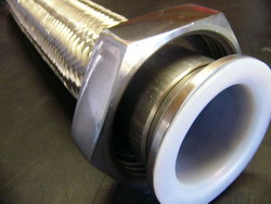 Teflon lined flexible piping systems for chemical injection
